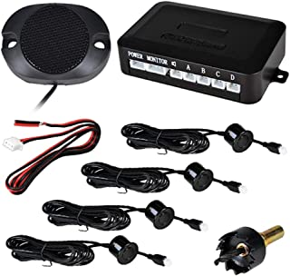 ieGeek Reverse Backup Parking Sensor Radar System, Buzzer Beeps, Waterproof 4 Sensors. Detection Distance 30-250cm. (Black)