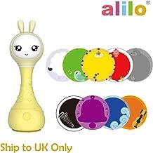 لعبة أليلو سمارت باني الإلكترونية الخشخيشة للأطفال بعمر 0 - 4 سنوات, اصفر