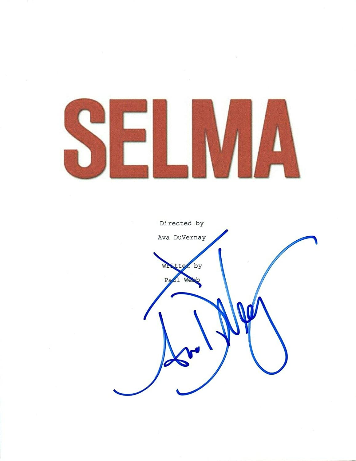 Ava DuVernay Signed outlet Autographed Regular discount SELMA VD COA Script Movie