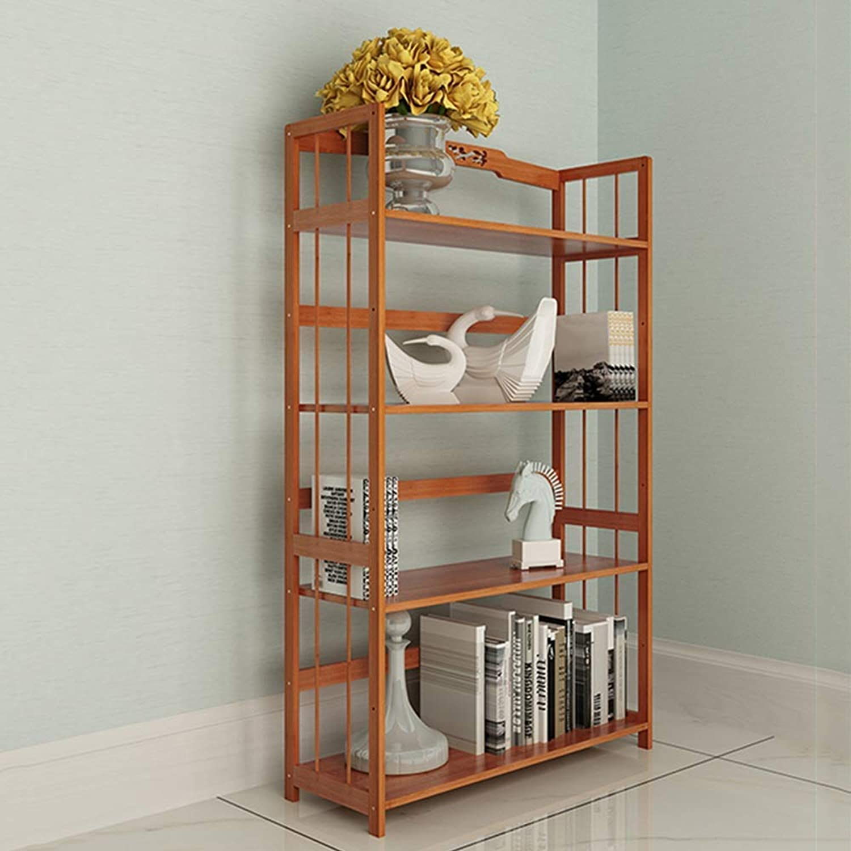 Bamboo Shelf Rack Office Study Living Room Floor Creative Multi-Size Optional (Size   68  28  115Cm)