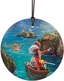 Trend Setters Disney – Peter Pan – Captain Hook and SMEE – Starfire Prints Hanging Glass – Light Catching Hanging Décor – ...