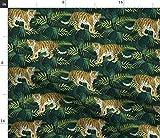 Spoonflower Stoff – Tiger Tiere Tropische Exotische