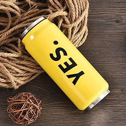 Yetier Botella de Agua, Botella Termo portátil de Viaje de 500 ml de Boca Ancha de Cute Minions de Acero Inoxidable