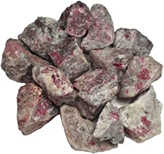 Hypnotic Gems Materials: 1 lb Ruby in Quartz Stones from Asia - Rough Bulk Raw Natural Crystals for Cabbing, Tumbling, Lapidary, Polishing, Wire Wrapping, Wicca & Reiki Crystal Healing
