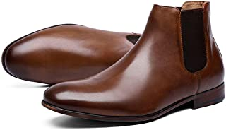 Mens Chelsea Boots Polished Leather Dress Boots for Men...