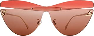 Authentic Fendi FF 0400 S 0MGT/HA Brown Red Sunglasses