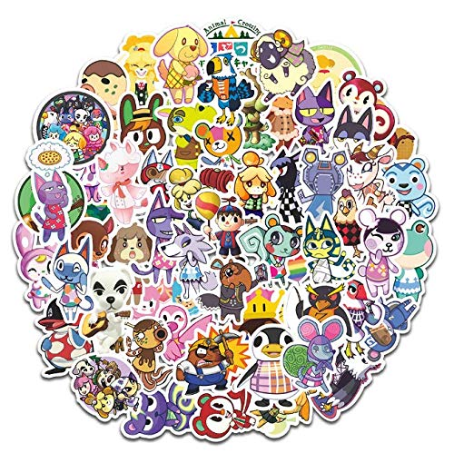 Animal Crossing Sticker Luggage Laptop Computer Mobile Forest Friends Club Switch Cartoon Waterproof Stickers 60 Sheets