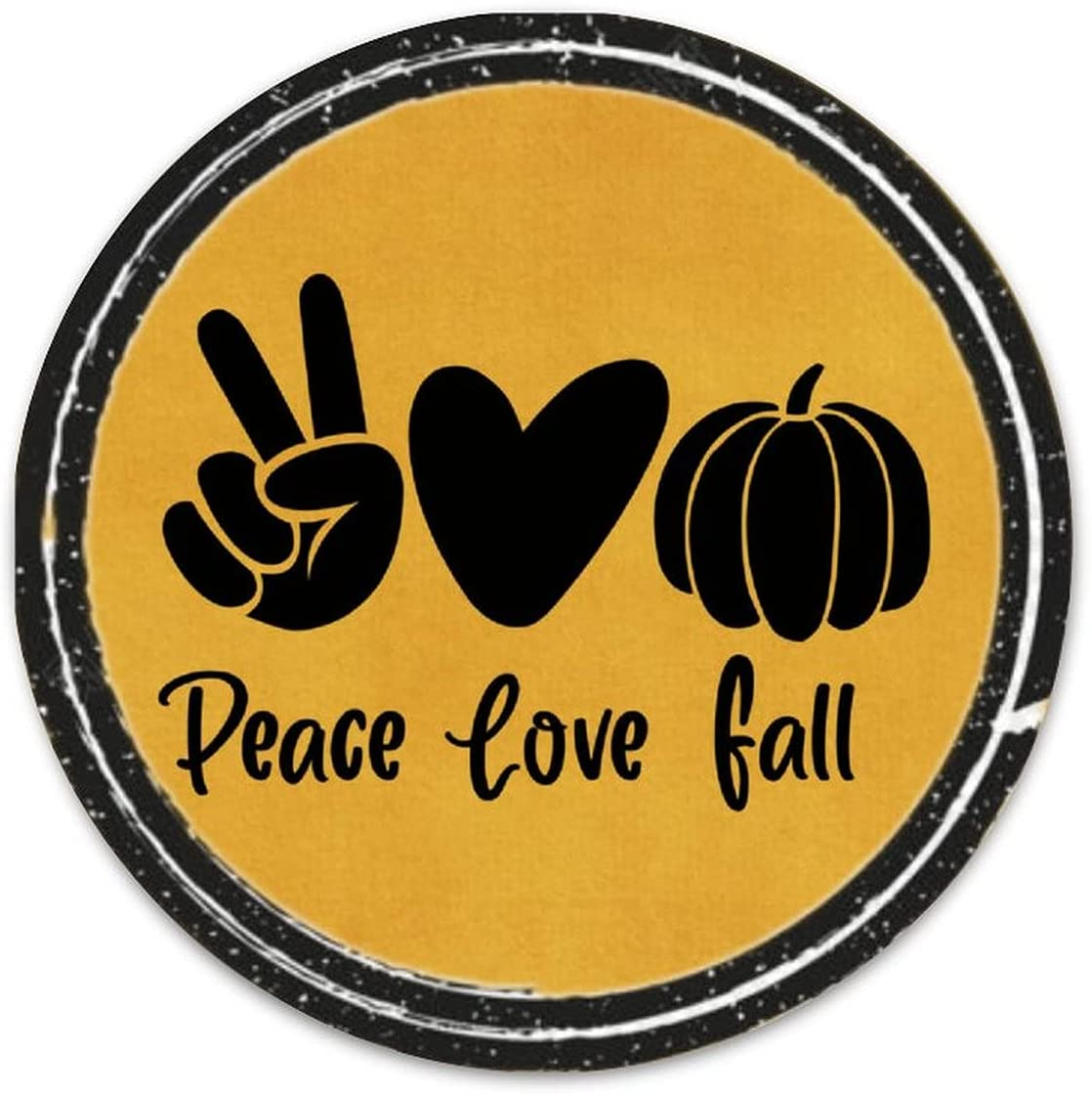 ArogGeld Funny Deluxe Halloween Quote Metal Max 89% OFF Peace Love Sign Retro Fall