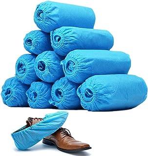 シューズカバー 使い捨て 靴カバー 100枚/50足入不織布シューズカバー 男女兼用 フリーサイズ 滑り止め 静電気防止 作業場 事務所 実験室 土足 室内 汚れ 防止 環境にやさしい便利