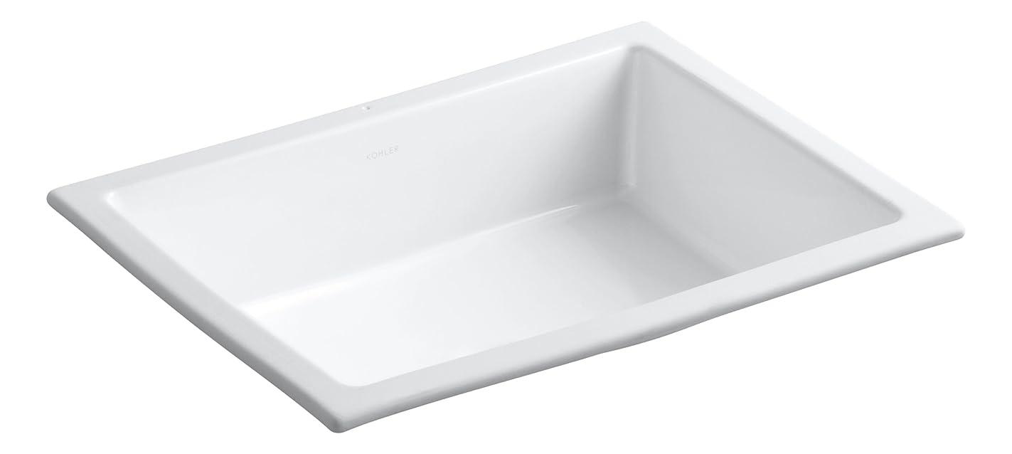 KOHLER K-2882-0 Verticyl Undermount Bathroom Sink, White