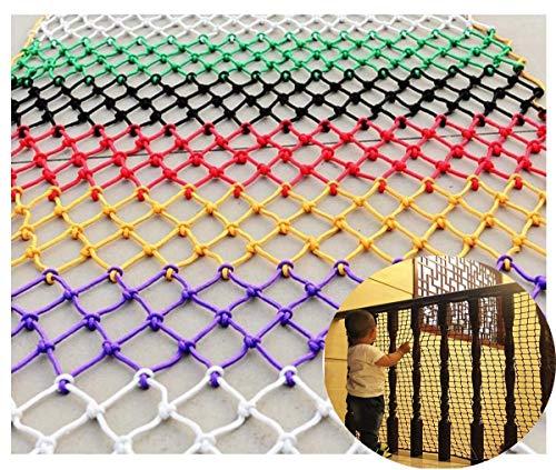 Kleur Veiligheid Net Balkon Bescherming Net, Touw Net, Veiligheid Net Voor Kind, Vissen Net Decoratie Net, Voor Tuin Hek Trap Anti-val Net Klimnet Kleuterschool Outdoor Beschermingsnet Aanpasbare Si