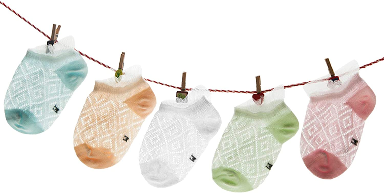 5 Packs Unisex Baby Soft Cute Cotton Socks Crew Walkers Newborn Gift