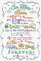 """Design Works Counted Cross Stitch Kit 12""""X18""""-Lord's Prayer (14 Count)"""
