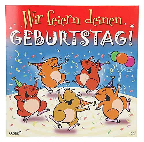 Depesche 3868.022 Glückwunschkarte mit Musik, Geburtstag, Mehrfarbig