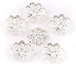 Beautiful Bead 6mm Gold Tone Flower Bead Caps for Jewelry Making (About 500pcs) (6mm, Silver)