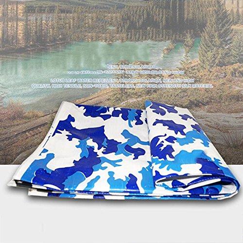 Brisk- dekzeil, zonwering en zonwering PVC blauw en wit camouflage vrachtwagen doek 200g/m2, dikte 0,5 Mm, 20 Size Optioneel