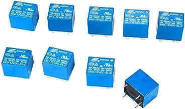 SONGLE relé Electromagnético de Alimentación SPDT 12V 10A Montaje - Pin para PCB, 10 Unidades, Control Aplicaciones Electrodomésticos BI084