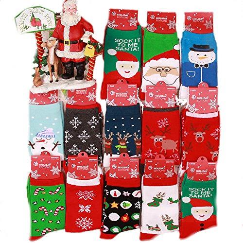 Veewon Frauen Damen Neuheit Spaß Weihnachtssocken 6 Paar-Satz, gelegentliche Farbe
