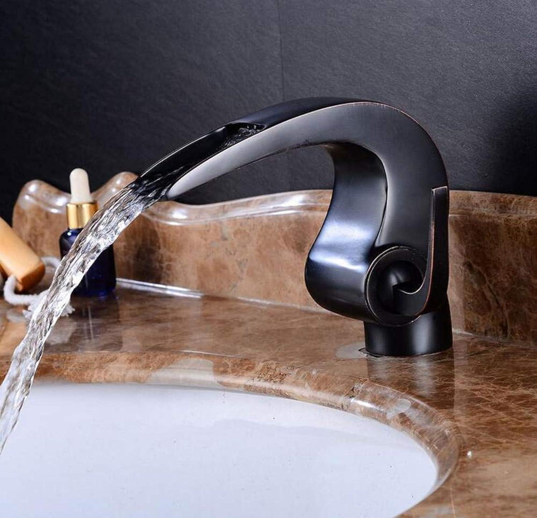 Mixer Basin Taps Basin Sink Mixer Tap Sink Black Hot and Cold Water Bathroom Faucet Basin Taps