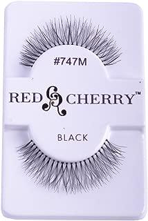 Red Cherry False Eye Lashes #747M (6 Pack) + Free iBeautiful Sample