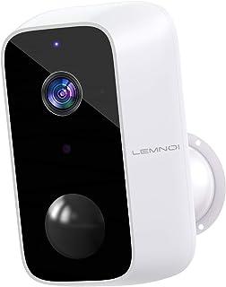 10000mAh Telecamera Wifi Esterno Batteria, Lemnoi Telecamera di Sicurezza Senza Fili 1080P con Visione Notturna, Rilevamen...