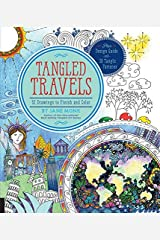 Tangled Travels: 52 Drawings to Finish and Color by Jane Monk (2016-05-01) Paperback