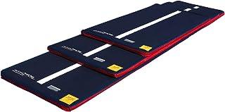 Tumbl Trak 蓝色牛仔布套空气地板搭配白色线下中间、魔术贴和防滑材料(仅限枕套)