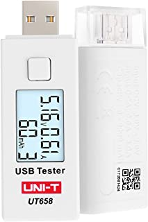 UNI-T UT658 USB Digital Power Meter Tester Multimeter Current and Voltage Monitor, DC 5.1A 30V Amp Voltage Power Meter, Test Speed of Chargers, Cables, Capacity of Power Banks