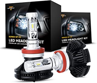 Auxbeam H11 LED Headlight Bulb NF-X3 Series H8 H9 H11 Led Headlights with with 2 Pcs of LED Headlight Bulb Kit 50W 5500lm Halogen Replacement Single Beam - 1 Year Warranty
