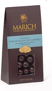 Marich Dark Chocolate Sea Salt Caramels, 4.25-Ounce