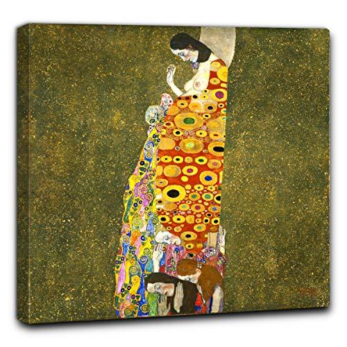 Niik Quadro + Telaio (BC) Speranza II di Gustav Klimt 100 x 99 x 4 cm Falso d'autore Stampa su Tela
