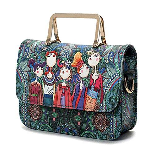 Womens Crossbody Bag, Fanspack Satchel Bag Fashion Flap Cover Handbag Girls Shoulder Bag