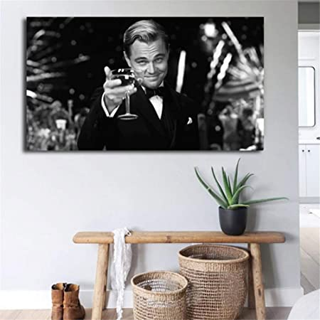 Leonardo DiCaprio Movie Home Decor Wall Art Print The Great Gatsby Poster