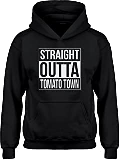 Indica Plateau Youth Straight Outta Tomato Town Kids Hoodie