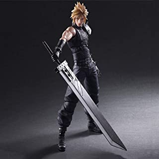 ZDNALS Final Fantasy VII Toy Statue Cloud Strife Game Model PVC Game Character Statue Joint Movement Crafts Collection -27CM Statue