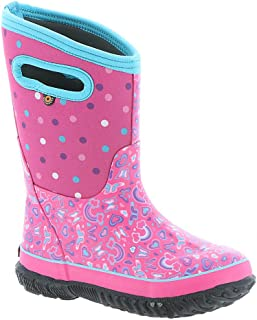 BOGS Classic Rainbow Girls' Toddler-Youth Boot 1 M US Little Kid Pink-Multi
