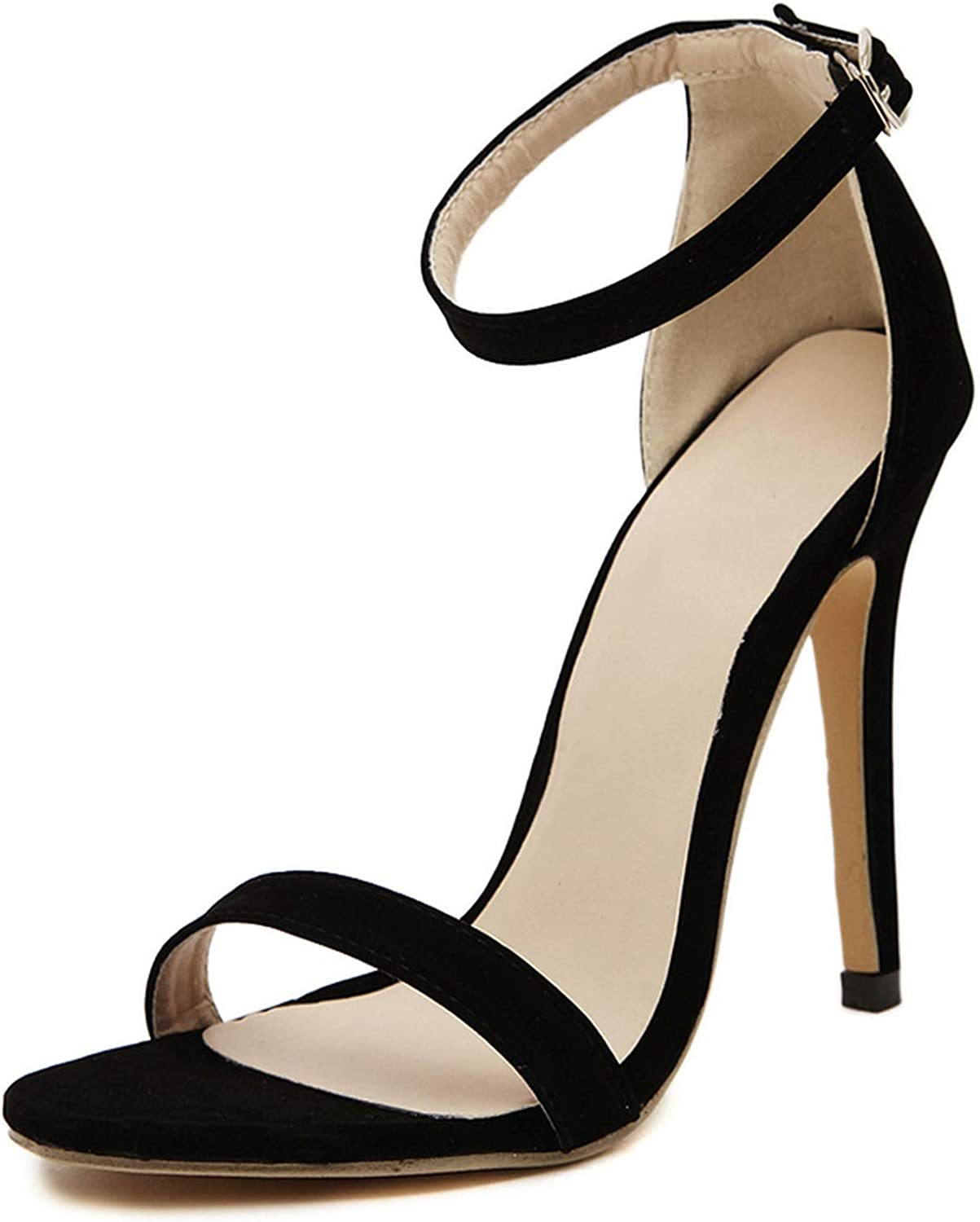 Paramise sandal Women Thin High Heels Plus Size Ankle Strap Female Sexy Party Wedding shoes for Ladies Stilettos
