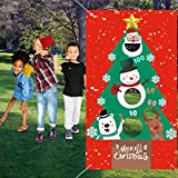 "Lumiparty Christmas Bean Bags Toss Games with 3 Bean Bags for Kids Adults, Christmas Party Games,Hanging Toss Game Banner,Christmas Decorations and Suppliers(29.5"" X 53"")"