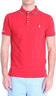 Polo Ralph Lauren Mod. 710792813 Polo Piqué Mangas Cortas Slim Fit Hombre Rojo