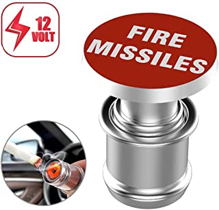 Melife Car Cigarette Lighter Replacement, FIRE MISSILES Button 12V Accessory Push Button Fits Most Automotive Vehicles Red