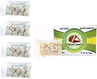 4 Pack Indian Nut 48 Seeds For Weight Loss AND Semilla de Brasil Seed 100% Original 30 Day Supply