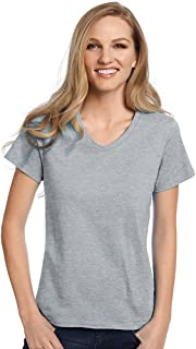 Ladies 5.2 oz. ComfortSoft V-Neck Cotton T-Shirt