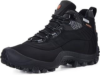 Manfen Men's Thermator متوسط الارتفاع للماء المشي لمسافات طويلة أحذية الرحلات في الهواء الطلق