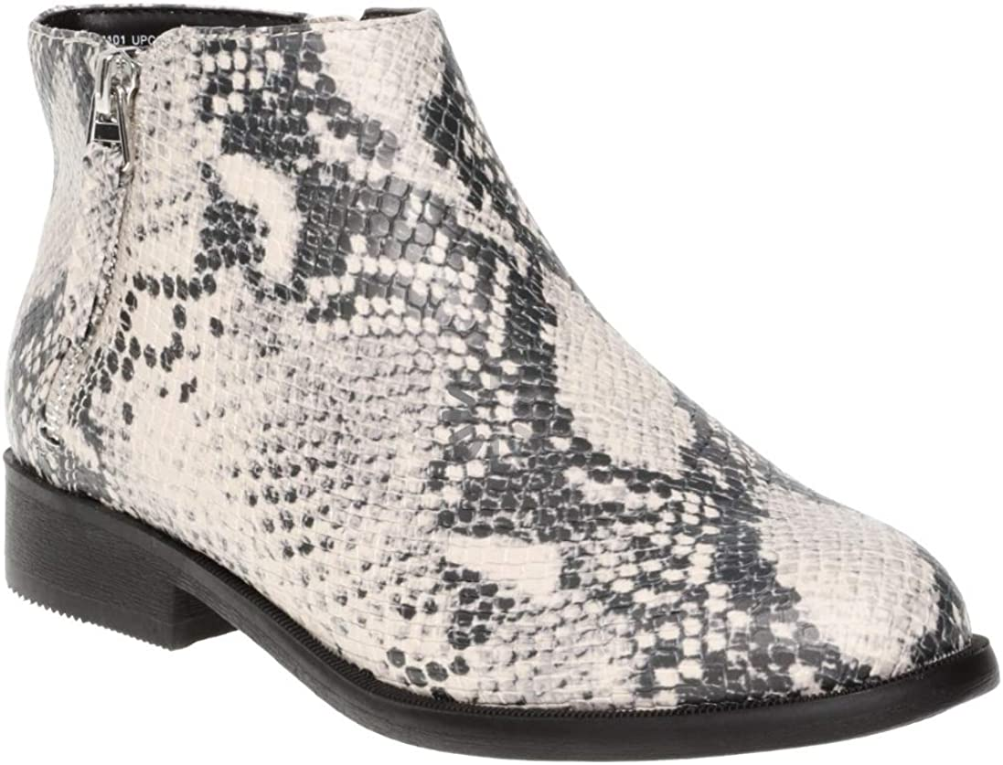 Time and Tru Women Two Zip Free Shipping New Boot Ankle in NEW before selling Snake Skin