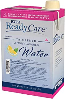 Lyons ReadyCare Thickened Lemon Flavored Water - Nectar Consistency, Level 2 Mildly Thick - 46 fl oz (6 Pack)