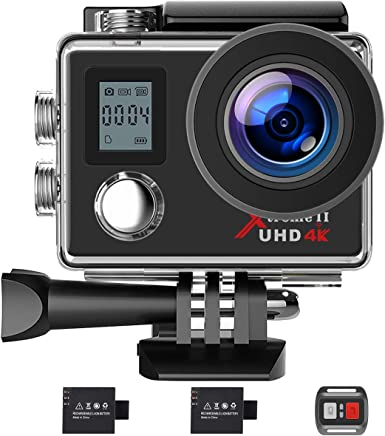 $39 Get Campark Action Camera 4K WiFi Ultra HD Sports Cam Underwater Waterproof 30M 170°Wide-Angle Lens with Remote Control 2 Recharge Batteries and Mounting Accessories Kit