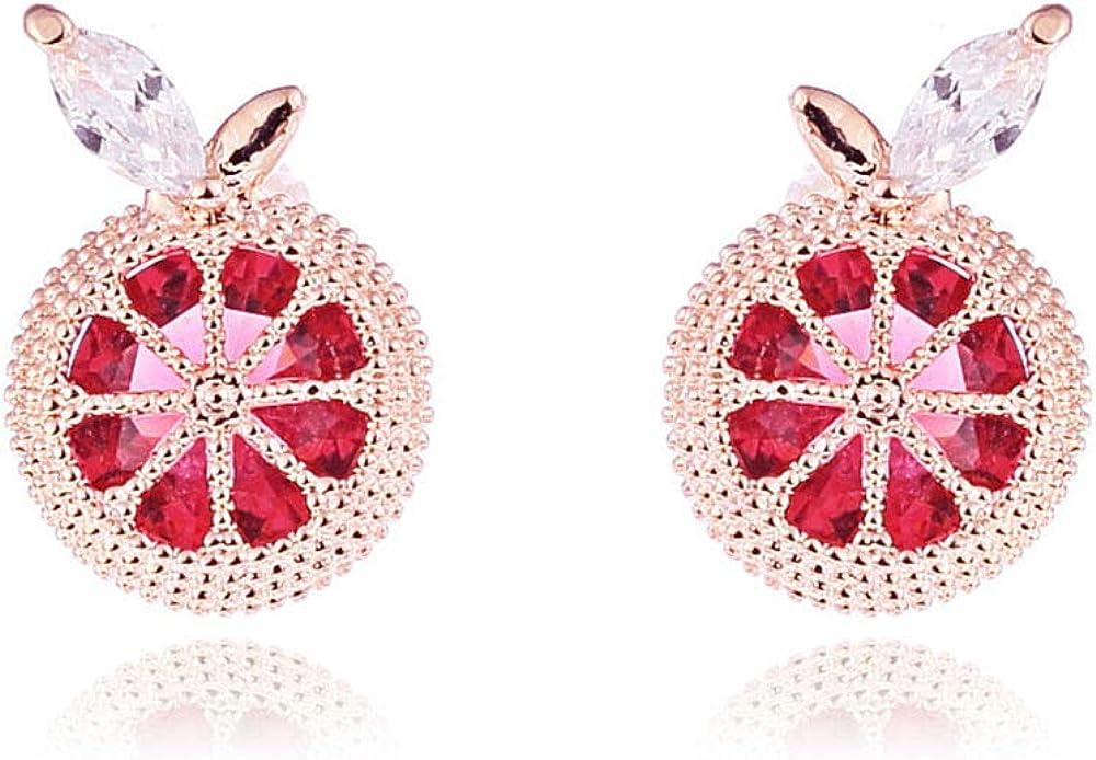HAPPYAN Women's Bridal Wedding Copper AAA Cubic Zircon Material Clip on Earrings Elegant Costume Jewelry