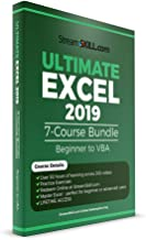 Excel 2019 Course by Stream Skill. Excel Tutorial Covering Beginner, Advanced and VBA: 7 Course Bundle (Online Key)