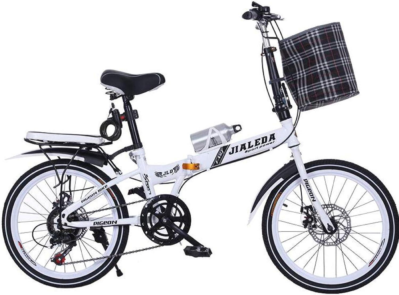AOHMG Foldable Bike City Folding Bikes, 6Speed Folding Bicycle Durable Frame with Comfort Saddle