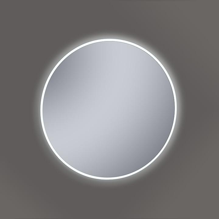Specchio da bagno kristaled saser led 60 cm Ø specchio da bagno con luce, vetro, argento, 60 x 60 x 2,5 cm 05743